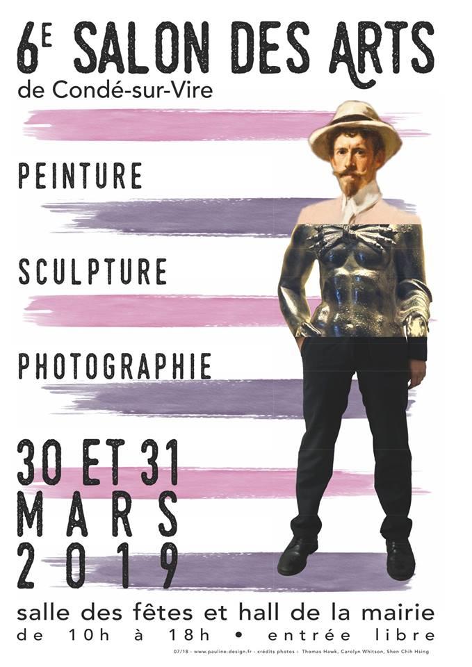 affiche salon des arts condé sur vire 2019 photographe