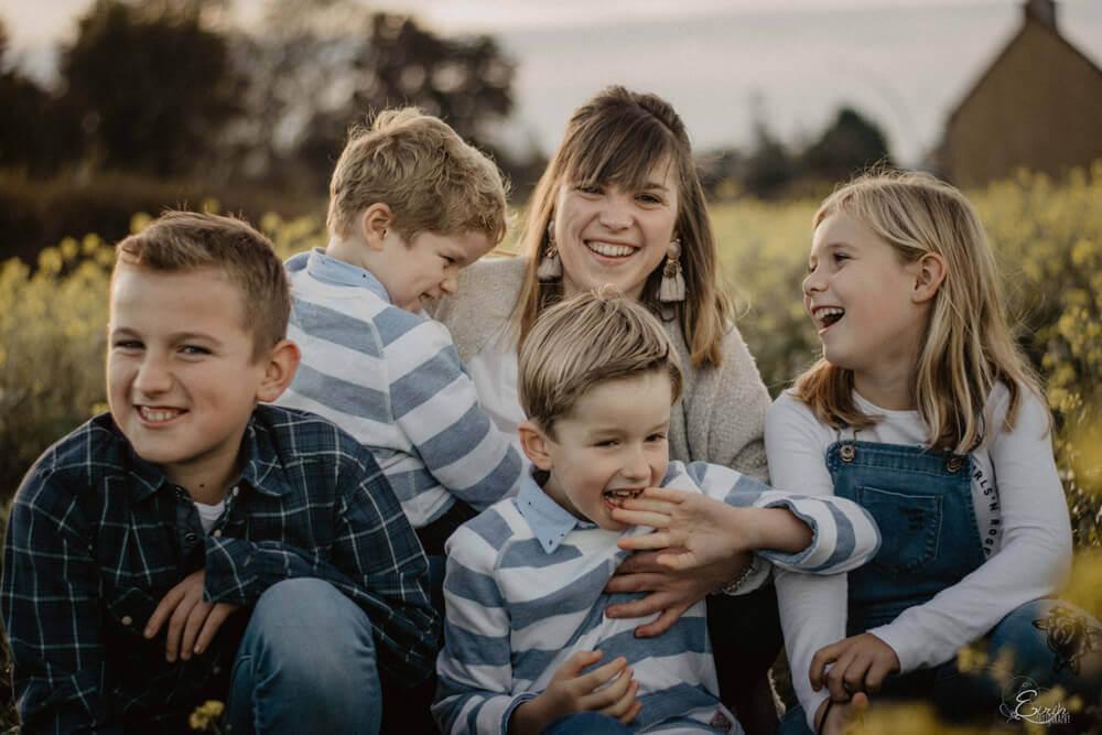 photo famille extérieur manche