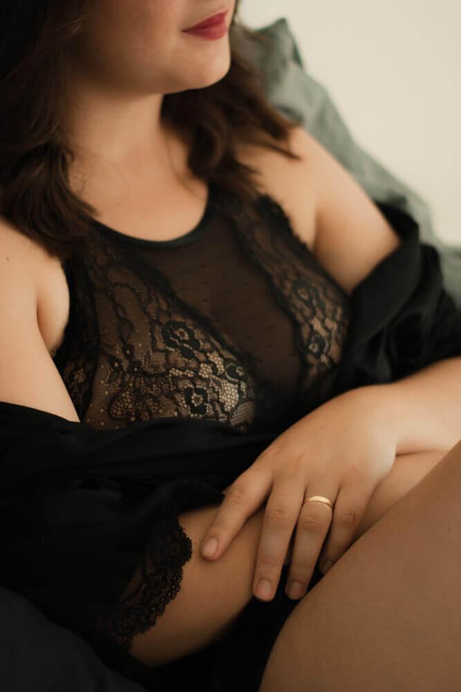 séance portrait boudoir noir