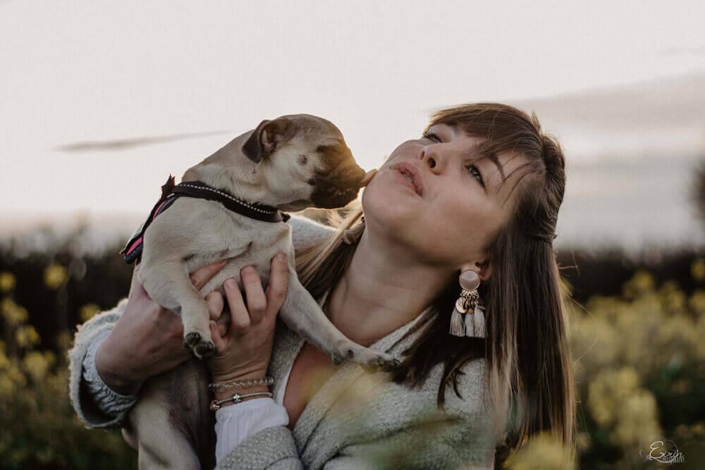 portrait photo maitresse chien