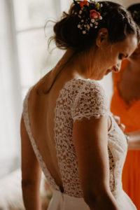 dos nu robe de mariée photo de mariage