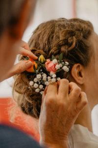 fleur cheveux mariée mariage