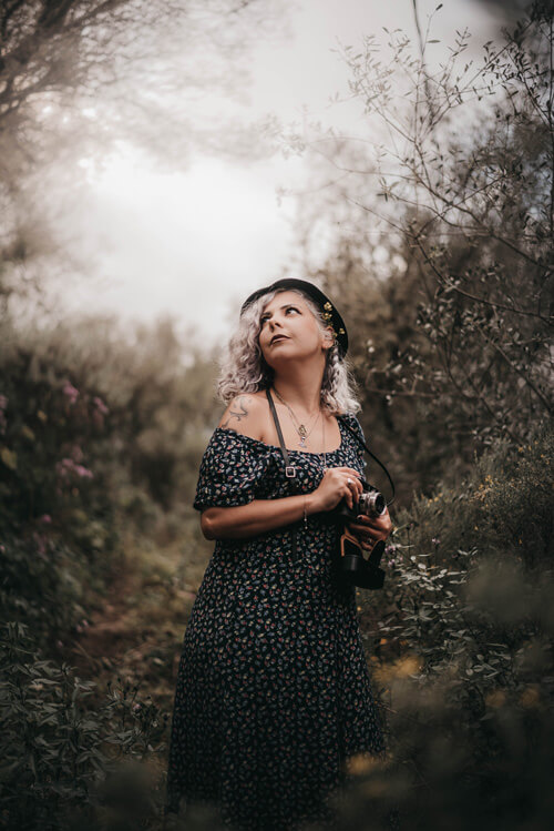 Autoportrait avec l'appareil hérité de ma grand-mère gran canaria