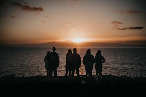 Admiration du coucher de soleil de Gran Canaria