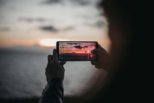 Le téléphone de ma mère qui prend une belle photo de El Teide