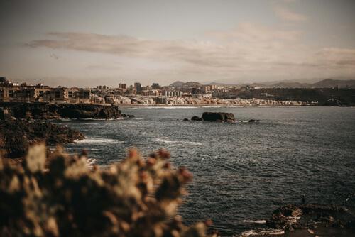 Las Palmas de loin Las Palmas de Gran Canaria