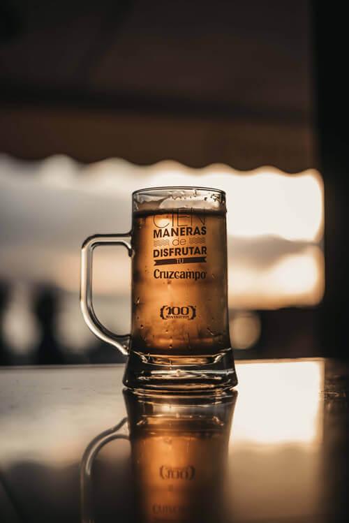 Une bonne bière bien fraîche plage gran canaria