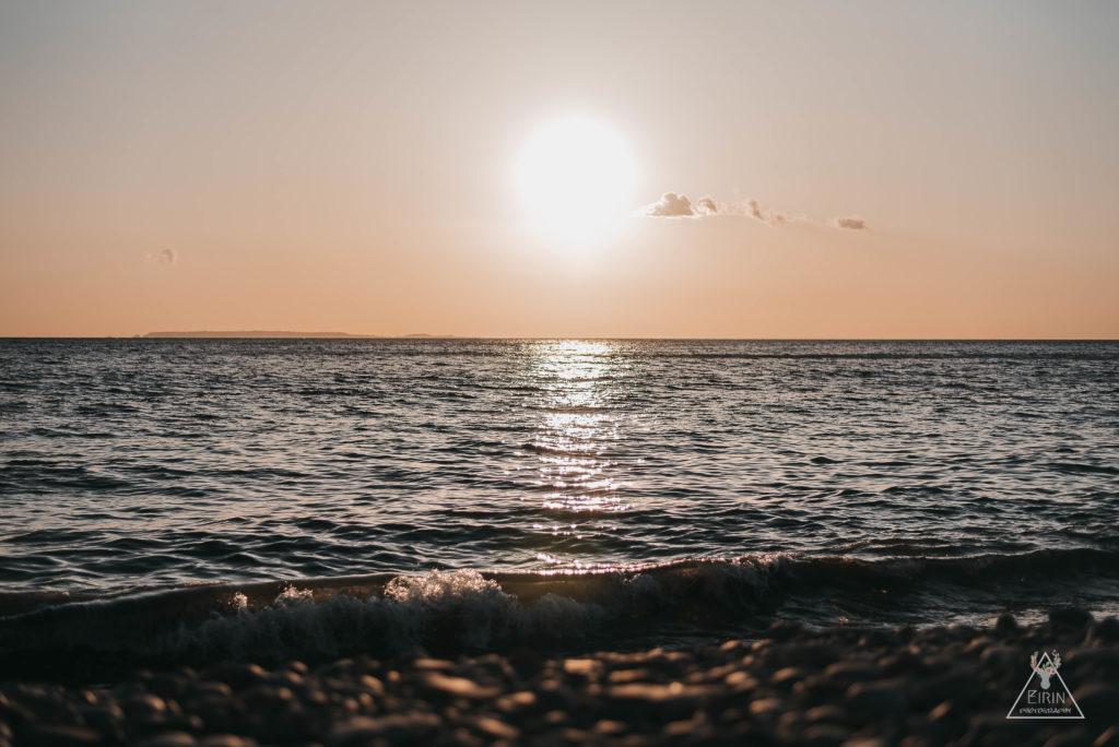 coucher de soleil baie d'écalgrain la hague