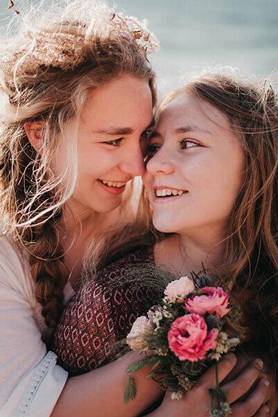 photo famille soeurs plage photographe manche