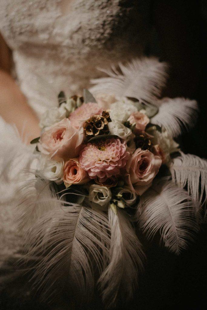 Mariage Art déco bouquet de mariée