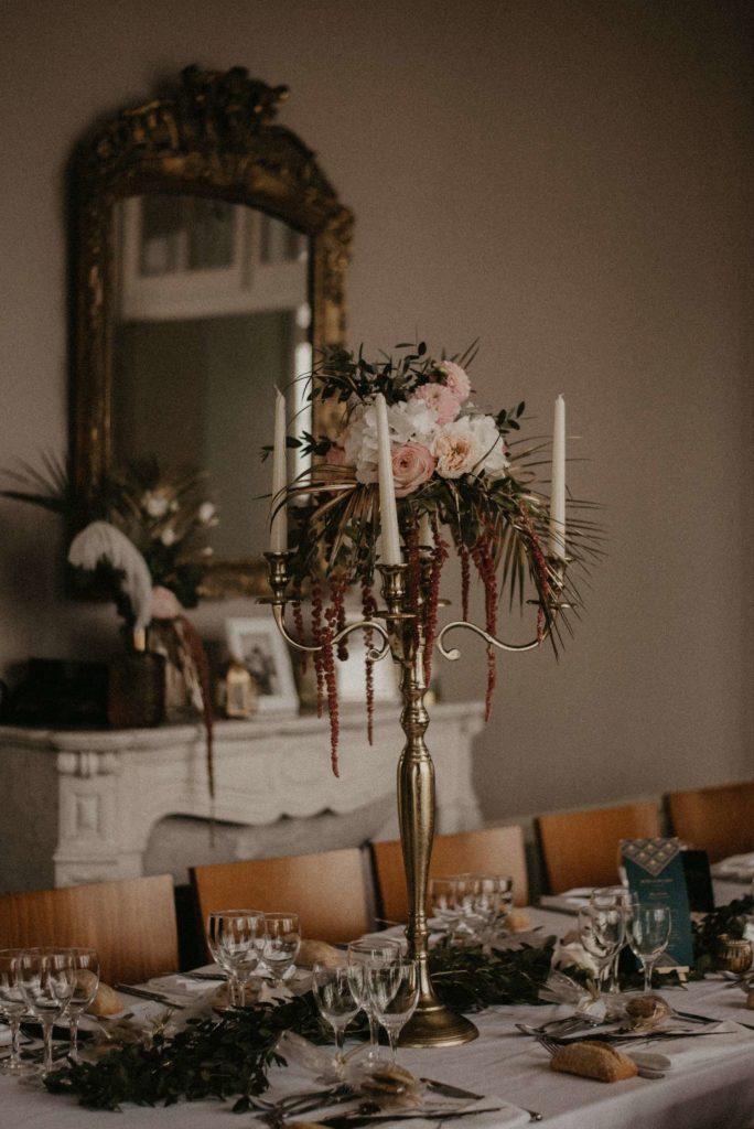 Mariage Art déco Granville déco de table