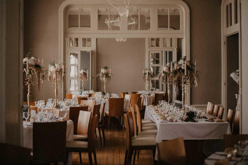 Mariage Art déco Granville table décoration