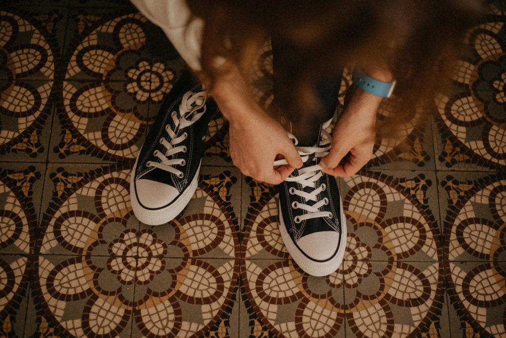 marié converse geek disney chaussures