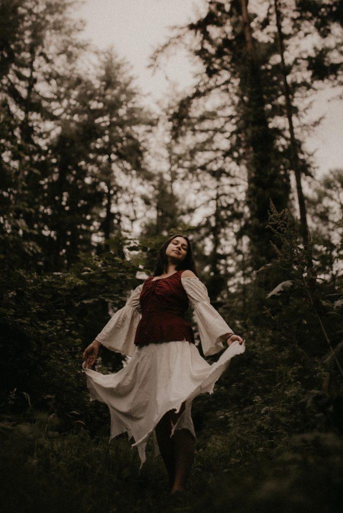photo portrait nature forêt confiance
